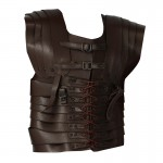 Leather Lorica Bust Protection (Brown)