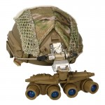 A-Frame Ballistic Fast Helmet with Cover and GPNVG-18 BNVS NVG (Multicam)