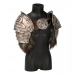 Diecast Viking Shoulder Pads with Fur (Grey)