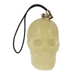 Glow In The Dark Phonecharm Cannibal Skull Headsculpt (White)