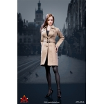 Female Trench Coat Suit Set (Beige)