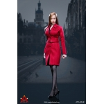 Female Trench Coat Suit Set (Red)