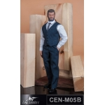 Gentlemen Striped Suit Set (Blue)
