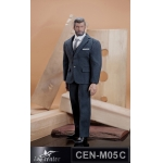 Gentlemen Striped Suit Set (Grey)