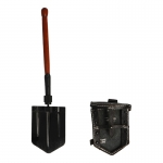 Diecast Folding Shovel with Leather Cover (Black)