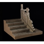 Ancient Steps with Carve Patterns Right Side Diorama (Beige)