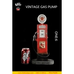 Vintage Gas Pump (Red)