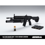 HK416D Assault Rifle with M203 Grenade Launcher (Black)