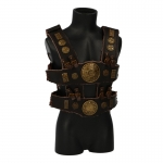 Leather Harness with Ornaments (Brown)