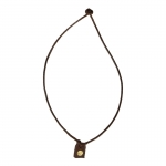 Necklace with Pendant (Brown)