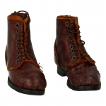 Worn Leather Ankle Boots (Brown)