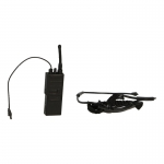 Radio with Tactical Throat Mic and Headset (Black)